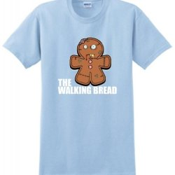 Gingerbread Zombie T-Shirt Large Light Blue