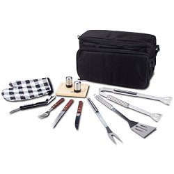 Premium 12 Pc Complete Picnic Bbq Set With Cooler Bag