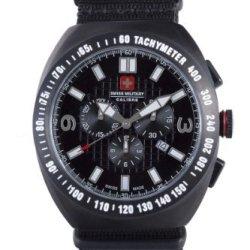 Swiss Military Calibre Men'S 06-4C2-13-007T Commando Black Ip Tachymeter Chronograph Date Watch