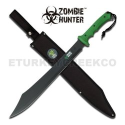 "Jm-030C "" Zombie Hunter "" I7Bfnt Full Tang Heavy Duty Fgxuu Machete 25"" Overall Ayeuiu56 Hlbv23Rt "" Zombie Hunter "" Heavy Duty All Black Stainlee Steel Full Tang Blade. Green 5Joxqas73 Fiber Handle Includes Nylon Carrying Case 25"" C6Ad2Lub Overall"