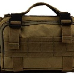 Ultimate Arms Gear Coyote Tan 5 In 1 Tactical Modular Deployment Compact Utility Carry Bag Molle Case Heavy Duty Combat Multi-Functional Equipment Survival Assault Transport Compatible Pistol Gun Camera Electronic Device Gear Pack With Adjustable Slip Sho