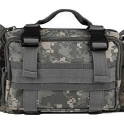 Ultimate Arms Gear Acu Army Digital Camo Camouflage 5 In 1 Tactical Modular Deployment Compact Utility Carry Bag Molle Case Heavy Duty Combat Multi-Functional Equipment Survival Assault Transport Compatible Pistol Gun Camera Electronic Device Gear Pack Wi