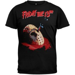 Friday The 13Th - Mens Stabbed T-Shirt - Small Black