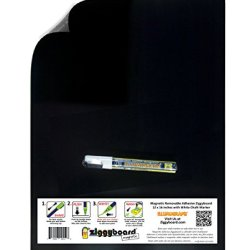 Magnetic Removable Adhesive Backed Kitchen Or Office Ziggyboard Chalkboard With White Chalk Marker 12 X 16 Inches Flexible Steel Makes Any Item Magnetic