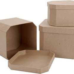 Dcc Crafts Paper Mache 3-Box Set: French Corner Square
