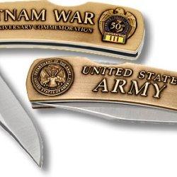 Us Army Vietnam 50Th Anniversary Small Lockback Knife