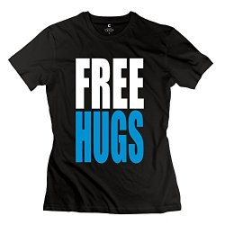 Free Hugs Tees For Women/Black Tee Shirts