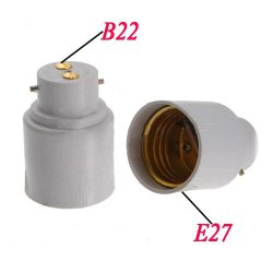 Toogoo(R) 2X E27 Screw To B22 Bayonet Base Light Lamp Bulb Adapter Converter Socket Base