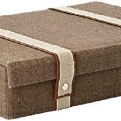 Reed & Barton 514 Woven Storage Flatware Set Case, Brown