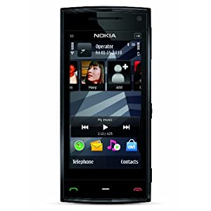 Nokia X6 Unlocked GSM Phone with 5 MP Camera, Capacitive Touch, and 16 GB Memory (Black Cap)