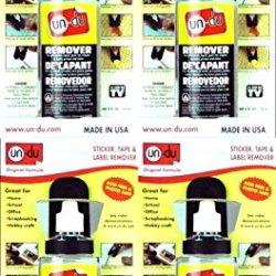 Bulk Buy: Un-Du Products Un Du Adhesive Remover 4 Ounces 01004-20 (4-Pack)