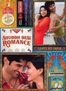 Shuddh Desi Romance (2013) 11 x 17 Movie Poster India Style A