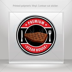 Decals Decal Steak House Sign Decorative Motorbike Bicycle Vehicle Atv Racing (6 X 6 In)