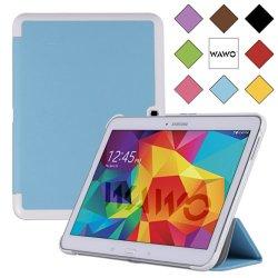 Wawo Samsung Galaxy Tab 4 10.1 Inch Tablet Smart Cover Creative Fold Case - Blue