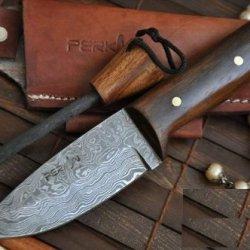 Sale - Custom Handmade Damascus Hunting Knife Beautiful Bushcraft Knife - Work Of Art