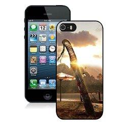 Diy Dead Island Knife Blood Sunset Sand Iphone 5 5S 5Th Black Phone Case