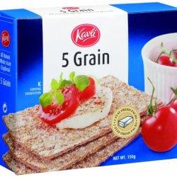 Kavli Crispbread, Five Grain, 5.29-Ounce Boxes (Pack Of 12)