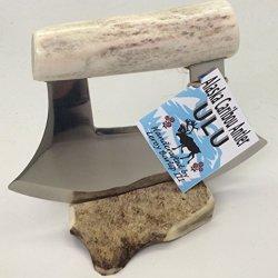 Alaskan Polished Caribou Antler Ulu Knife Petite Handle
