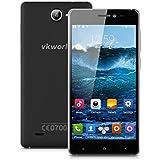 5.0'' VKWORLD VK700X IPS 3G Smartphone Android 5.1 MT6580 Quad Core 1.3GHz Cellulare Dual SIM 1GB/8GB Intelligente Sveglia GPS WIFI Nero