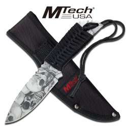 """Mtech """"Catacombs"""" Survival Knife - Grey"""