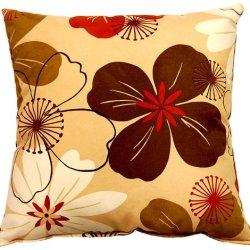 Dakotah 17 By 17-Inch Flower Power Knife Edge Pillow, Caramel, Set Of 2
