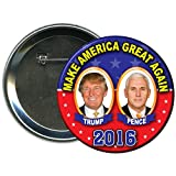 Donald Trump and Mike Pence Round 2016 Campaign Button 4