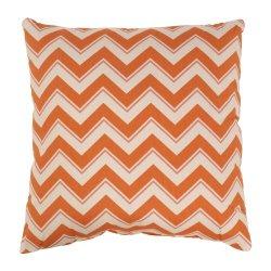 Pillow Perfect Chevron 18-Inch Throw Pillow, Grapefruit