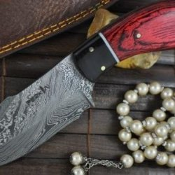 Price Cut - Handmade Damascus Hunting Knife - Full Tang