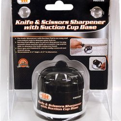 Iit 80598 Knife And Scissors Sharpener With Suction Cup Base