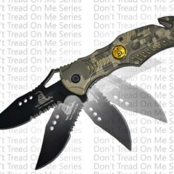 Don'T Tread On Me Digital Camo Black Blade Assisted Opening Rescue Pocket Knife