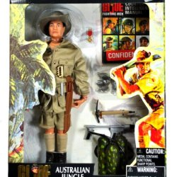 Hasbro Year 2001 G.I. Joe Timeless Collection Series 12 Inch Tall Soldier Action Figure Set - Australian Jungle Fighter With Hat, Trench Knife, Jacket With Brass Buttons, 6 Grenades, Machete With Sheath, Flame Throwerwith Hose And Tank, Shovel, Medal And