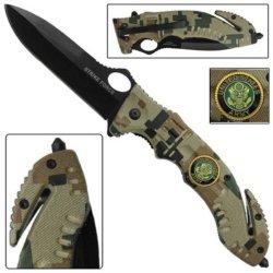 Us Army Rescue Survival Folding Knife Digital Camo