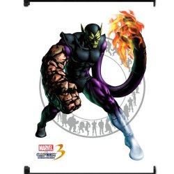 Marvel Vs Capcom 3 Super Skrull Game Fabric Wall Scroll Poster (32X42) Inches