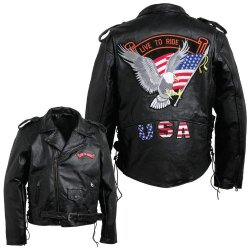 Pebble Leather Moto Jacket-Xl