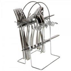 24Pcs Stainless Steel Tableware Fork Knife Spoon Set