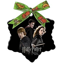 Harry Potter and the Deathly Hallows Custom Unique Fashion Snowflake Shape Ceramics Christmas Gifts Home Decoration