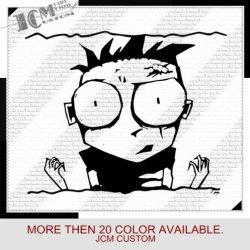 "Johnny The Homicidal Maniac Knives - Vinyl Decal Sticker / 22"" X 17.8"" (02 Black, Vinyl Type - Permanent - Auto)"