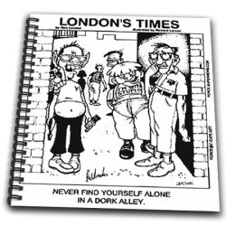 Db_2140_1 Londons Times Funny Music Cartoons - Dork Alley - Drawing Book - Drawing Book 8 X 8 Inch