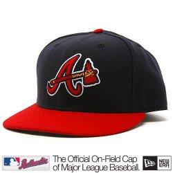 Atlanta Braves Mlb Authentic Baseball Cap 7-3/8 Osfa - Like New
