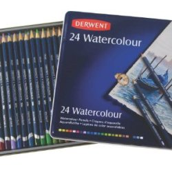 Derwent Watercolor Pencils, 3.4Mm Core, Metal Tin, 24 Count (32883)