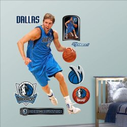 Nba Wall Decal Nba Player: Dallas Mavericks - Nowitzki