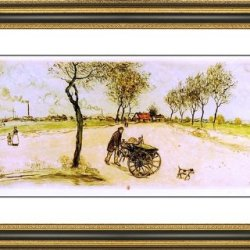 "Jean-Francois Raffaelli The Knife Sharpener - 21"" X 29"" Matted Framed Premium Archival Print"