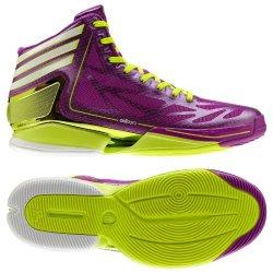 Adidas Men'S Adizero Crazy Light 2 Basketball Shoes-Purple/Electricity/White-10.5