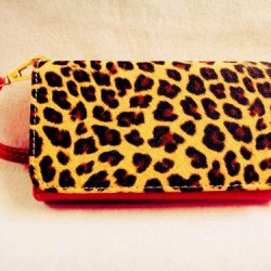 New! Leopard Skin Leather Wallet Purse Flip Smart-Phone Wristlet Clutch Leather Wallet Case Cover Rose For Mobile Cell Phone(Doogee Dagger Dg550)