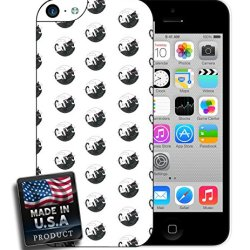 Yin And Yang Black White Cats Cute Clever Pattern Design Iphone 5C Hard Case