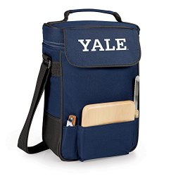 Collegiate - Duet Insulated Wine And Cheese Tote Yale Undersity Bulldogs/Navy/Digital