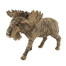 Postcard Print Decorative Burlap Moose Sculpture