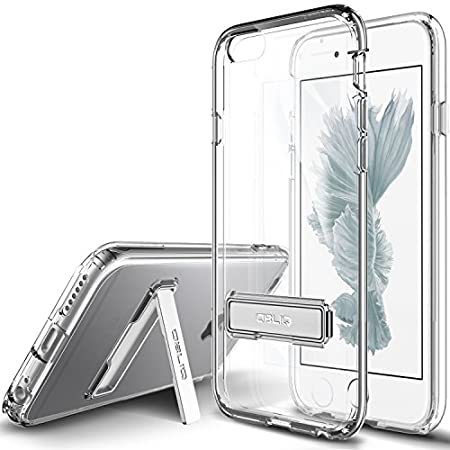 iPhone 6S Case, OBLIQ [Naked Shield][Clear][Metal Kickstand] Thin Slim Fit Crystal Clear Case + TPU Bumper Armor Scratch Resist Protection Hybrid case for Apple iPhone 6S (2015) & iPhone 6 (2014)
