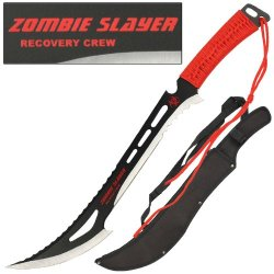 Zombie Slayer Recovery Crew Sword Knife Machete Wicked