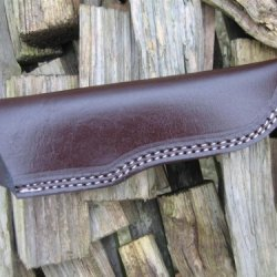 Bargain! Hand Made, Heavy Duty Leather Knife Sheath. Will Take Most Hunting And Camping Knives Up To 9.5 Inches Long.